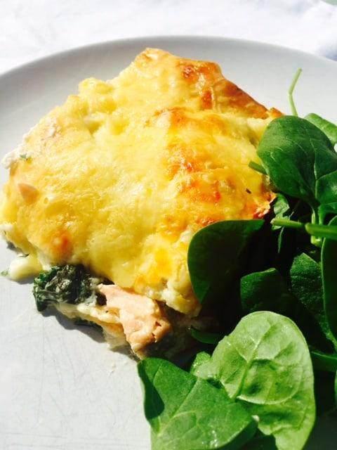 salmon-and-spinach-lasagna