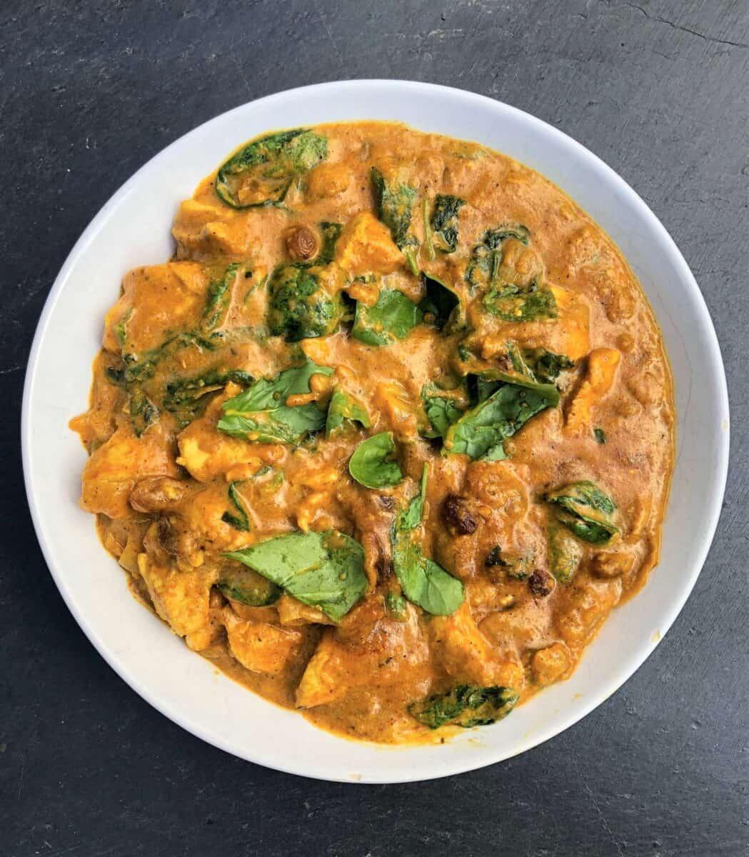 chicken-korma-spinach-yoghurt