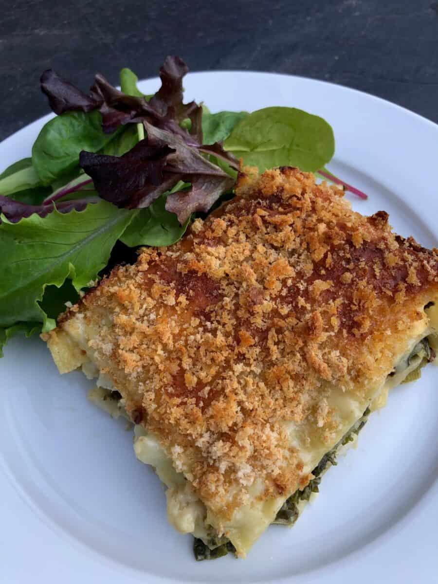 leek-cauliflower-and-kale-lasagna