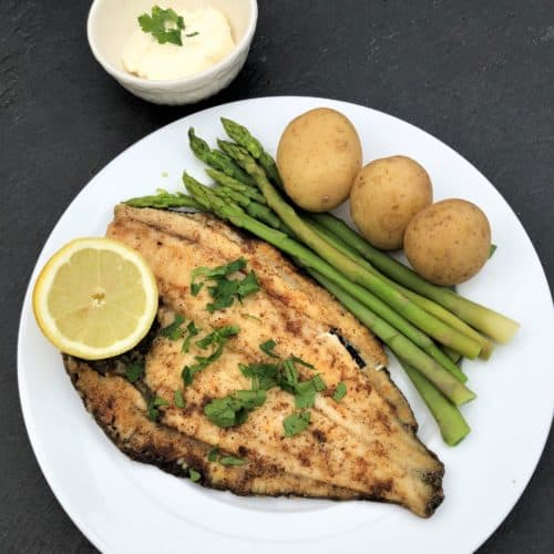 sea-bass-plaice-with-new-potatoes-and-asparagus